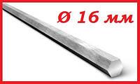Шестигранник стальной г/к диаметром 16 мм