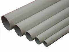 Труба ПВХ жорстка гладка д.40мм, Light, 3м, сірий колір