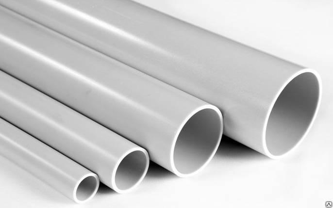 Труба ПВХ жорстка гладка д.25мм, стандартна, 3м, сірий колір, фото 2