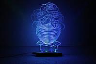 """3D светильник-ночник """"Букет Роз"""""""