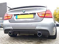 Юбка диффузор тюнинг обвес заднего бампера BMW E90 стиль M Performance для бампера M Sport Paket