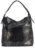 Оригинальная стильная прочная элегантная кожаная женская сумка под рептилию SOLANA art.1590 синяя