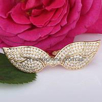 Стильное кольцо с фианитами, покрытое золотом (119300)