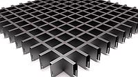 Потолок грильято ячейка 60х60х40, белый, металлик, черный