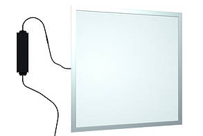 Панель LED 2в1 600х600мм 40Вт 4100K Алюминий (крепление+трос) LUMEN