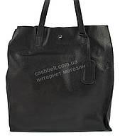 Оригинальная стильная прочная мягкая женская сумка матрешка с натуральной кожи SOLANA art.134 черная