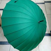 Зонт трость однотонный зеленый