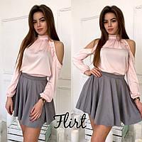 Блуза шелк армани цвет персик 12404