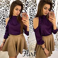 Блуза шелк армани цвет фиолет 12405