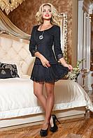 Молодежное женское черное платье 2064 Seventeen 42-48 размеры