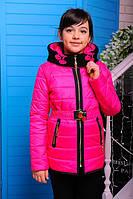 """Детская демисезонная курточка для девочки """"Вишни"""""""