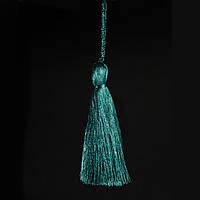 Кисточка подвеска из метал нити-морволна 15 см