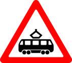 Дорожные знаки Предупреждающие знаки Пересечение с трамвайной линией 1.20