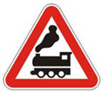 Дорожные знаки Предупреждающие знаки Железнодорожный переезд без шлагбаума 1.28
