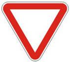 Дорожные знаки Знаки приоритета Уступить дорогу 2.1