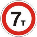 Дорожные знаки Запрещающие знаки Движение транспортных средств масса которых превышает...т,запрещено 3.15