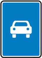 Дорожные знаки Информационно-указательные знаки Дорога для автомобилей 5.3