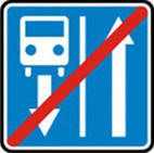 Дорожные знаки Информационно-указательные знаки Конец дороги с полосой для движения маршрутных  5.9