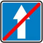 Дорожные знаки Информационно-указательные знаки Конец дороги с односторонним движением 5.6