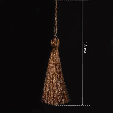 Кисточка подвеска из метал нити-красная медь 15 см, фото 2