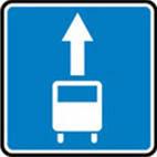 Дорожные знаки Информационно-указательные знаки Полоса для движения маршрутных ... 5.11