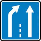 Дорожные знаки Информационно-указательные знаки Конец дополнительной полосы движения 5.21.2
