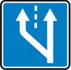 Дорожные знаки Информационно-указательные знаки Начало дополнительной полосы движения 5.20.3