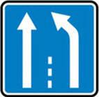 Дорожные знаки Информационно-указательные знаки Конец дополнительной полосы движения 5.21.1