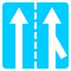 Дорожные знаки Информационно-указательные знаки Примыкание полосы для разгона транспортных средств 5.22