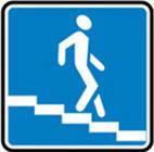 Дорожные знаки Информационно-указательные знаки Подземный пешеходный переход 5.36.2