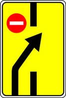 Дорожные знаки Информационно-указательные знаки Изменение направления движения на дороге с разделительн 5.24.2