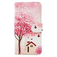 Чехол книжка TPU Wallet Printing для Samsung Galaxy J730 J7 2017 Tree and House