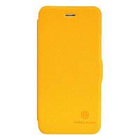 "Кожаный чехол (книжка) Nillkin Fresh Series для Apple iPhone 6/6s plus (5.5"")            Желтый"