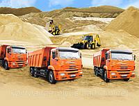 Песок овражный речной в Киеве Доставка песка по Киеву, Киевской области