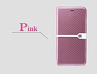 "Кожаный чехол (книжка) Nillkin Ice Series для Apple iPhone 6/6s plus (5.5"") (+ пленка) Розовый"