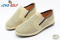 Мальчиковые туфли - мокасины с перфорацией оптом от фирмы Jong Golf C6361-6 (8пар, 31-36)