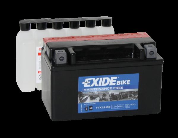 Аккумулятор мото EXIDE B/O 12V 6AH 90A YTX7A-BS/ETX7A-BS [150X87X93]
