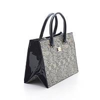 Женская лаковая сумка Marino Rose черная
