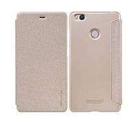 Кожаный чехол (книжка) Nillkin Sparkle Series для Xiaomi Mi 4s            Золотой