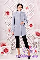 Женское кашемировое пальто светлого цвета большого размера (р. 44-54) арт. 974 Тон 14