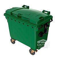 Мусорный бак для ТБО 1100 л зеленый (Германия)