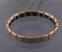 Энергетический браслет -  Gold Line с турмалином 20камней