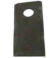 Нож роторной косилки BALMET левый 95x45x3.5Ø16.25 JD CC20500