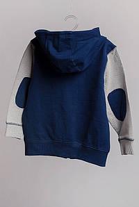 Батник детский с капюшоном 323K001 (Синий)