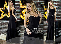 Женское платье макси вечернее с поясом