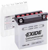 Аккумулятор мото  EXIDE 12V 5AH 40A 12N5-3B [121X61X131]