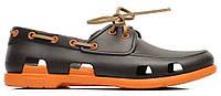 Мужские кроксы Crocs коричневые/оранжевые