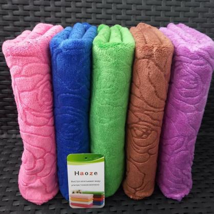 """Кухонные полотенца из микрофибры """"Розы однотон"""", размер 35*75 см, (в уп. 10 шт) 235"""