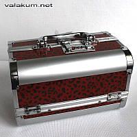 Металлический сундучок-кейс А-170-1. Кодовый замок. Цвет красный.