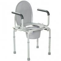 Стальной стул-туалет с откидными подлокотниками OSD (Италия)